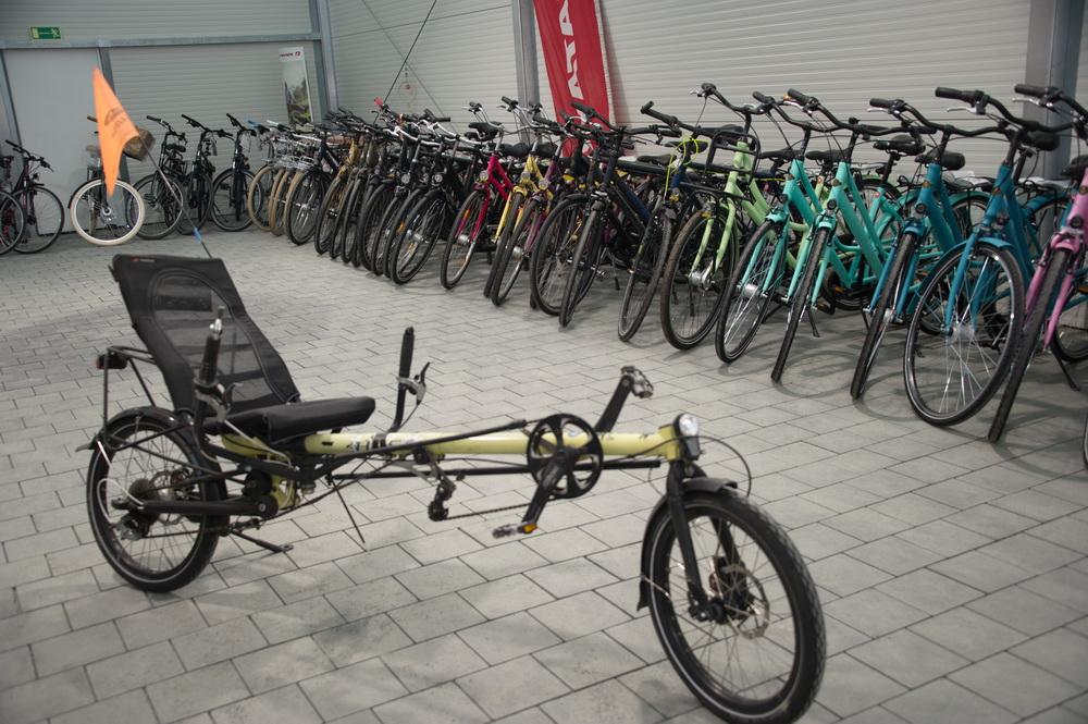 Großes Angebot an Rädern © Foto: Katharina Hansen-Gluschitz
